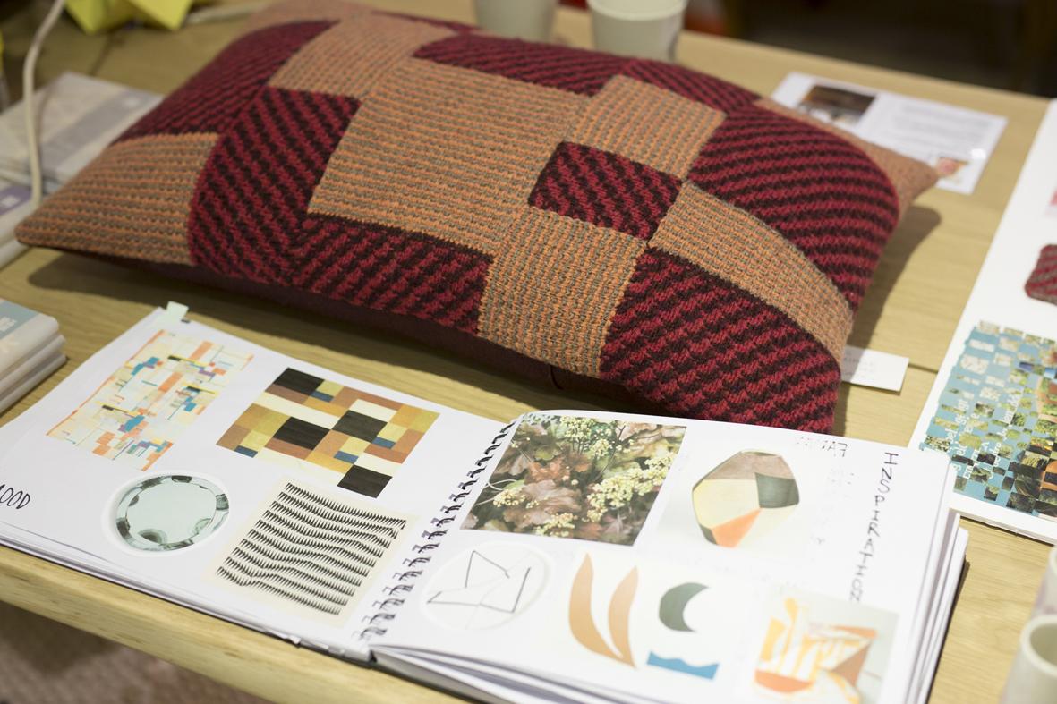 Via Udstilling hos Fabrikanterne i Vejle Midtpunkt, tekstil design, Foto Tine Hvolby