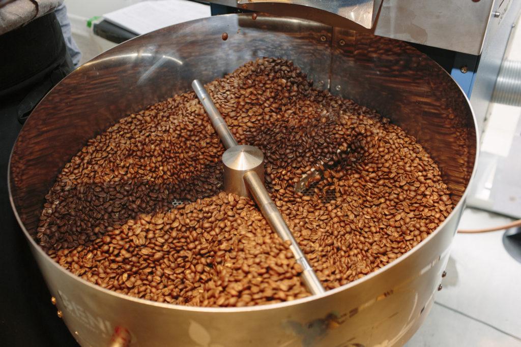 Kaffe risteri hos fabrikanterne i Vejle Midtpunkt